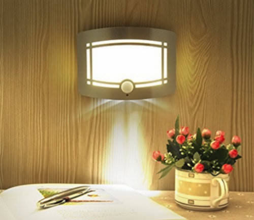 2x Wall Mounted 10 LED Motion Sensor Night Light Super Bright Battery Operated