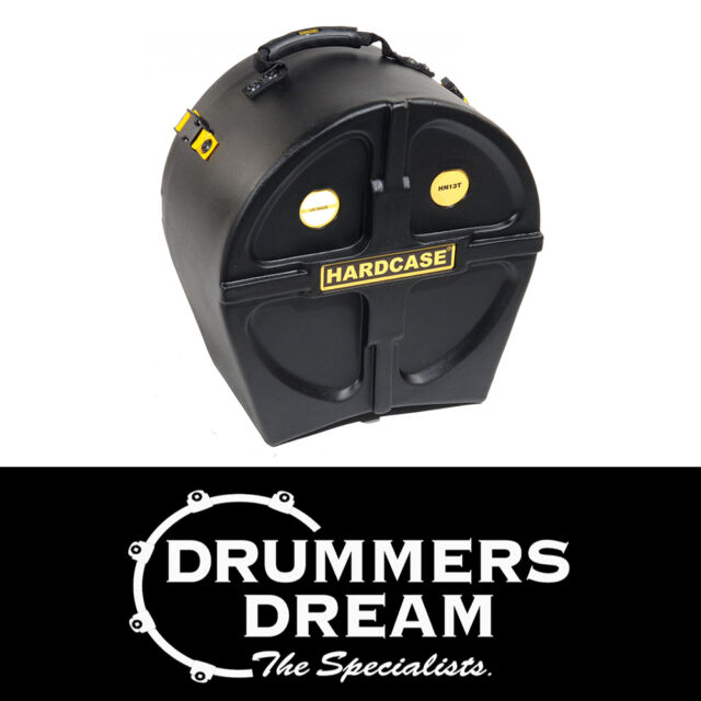 "HARDCASE 13"" Tom Drum Case LIFETIME WARRANTY! Waterproof EXTRA strong Case"