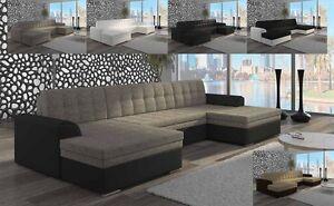 ecksofa in u form vera mit schlaffunktion xxl sofa. Black Bedroom Furniture Sets. Home Design Ideas