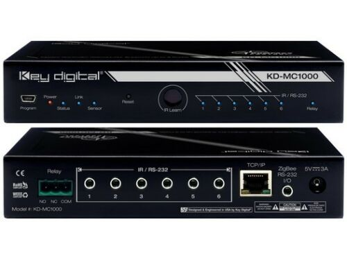 Key Digital KD-MC1000 Wired//LAN Master Controller supports up to 8 Ports