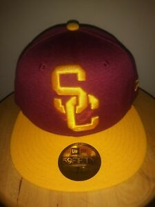 USC Trojans Hat SC Adult New Era 59FIFTY Unisex Fitted Cap Men s 7 3 ... e00e9fc3a8bf