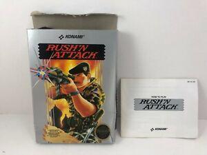 Nintendo NES Konami Rush N Attack BOX & BOOK ONLY (NO GAME)