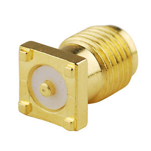 10x SMA female jack Bulkhead connector Thru Hole PCB Mount striaght Gold-plated
