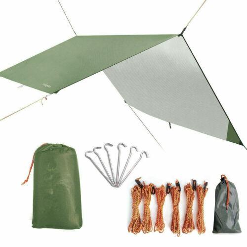 Zelt Tarp 3x3 Wasserdicht Sonnensegel Hängematte Outdoor Camping Zelt Plane