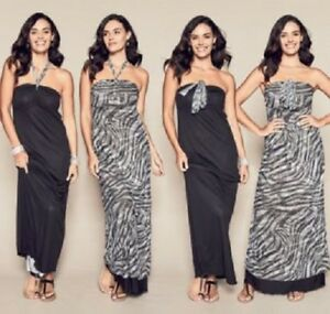 Ladies Urban Animal Safari 4 Way Reversible Long Maxi Dress Size 12 ...