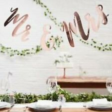 Mr & Mrs Rose Gold Bunting Metallic Garland - Ginger Ray Wedding 1.5m