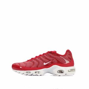 reputable site 541cc 08238 Nike Air Max Plus Tuned TN Baskets pour Hommes en Rouge/Blanc | eBay