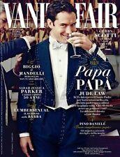 VANITY FAIR Magazine ITALY,Jude Law, Matthias Schoenaerts NEW