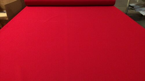 """Twill Canvas Fabric Scarlet Red 6.5 Oz Cotton Poly 66"""" W Apparel By The Yard"""