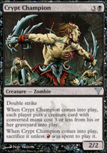 4 Crypt Champion Dissension LP mtg x4 4x