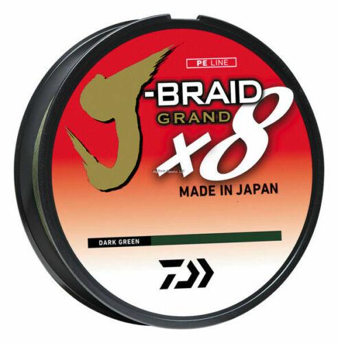 J-Braid x8 Dark Green Fishing Line 3000 m//3300 yrd HUGE SPOOLS