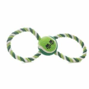 Corde en forme de 8 et balle de tennis 25 cm - Jouet pour Chien