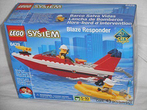 Lego System System System BLAZE RESPONDER Set 6429 (1999 Town City Fire Boat) 51819b