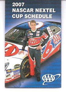 2007 NASCAR NEXTEL CUP SCHEDULE ROUSH RACING DAVID RAGAN 6 AAA
