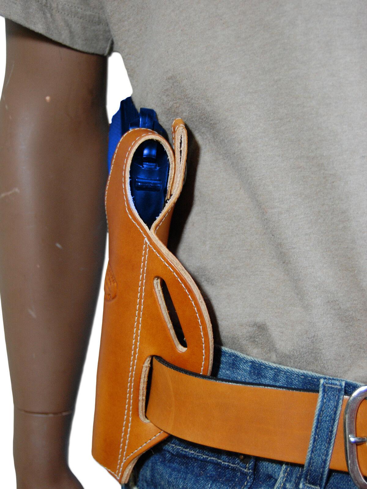 New Tan Leder Pancake Holster + Dbl Mag Pouch 9mm Springfield Full Größe 9mm Pouch 40 45 3bd144