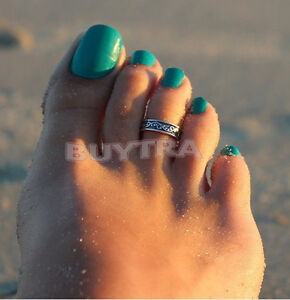 Hot-Silver-Toe-Ring-Metal-Material-Sterling-Silver-Jewelry-Hawaiian-Beach-Nq