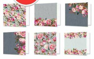 6-Simple-Plegables-Floral-Acuarelas-15-2cm-x-Hunkydory-Tarjetas-en-Blanco-amp