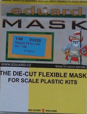 Eduard 1/48 EX029 Canopy Mask for the Tamiya Mosquito FB Mk VI + NF Mk II