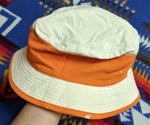 Hermés France Linen Wool Blend Orange Piped Distr… - image 1