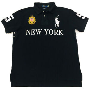Ralph-Lauren-Men-039-s-New-York-City-Polo-Chemise-Custom-Fit-Big-Pony-noir