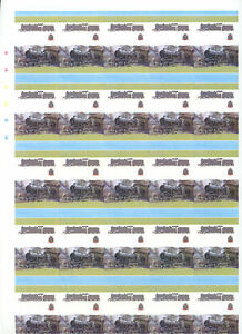 Railway-Locomotive-Imperf-Colour-Proof-Sheet-Of-50-Pairs-S427