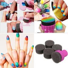 5 Pcs Magic Nail art Sponge Gradual Change Stamper Polish Stamping Manicure Tool