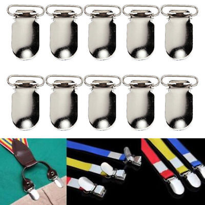 10//20X Metal Baby Holder Insert Pacifier Silver Tone Suspender Clip Mitten 10mm