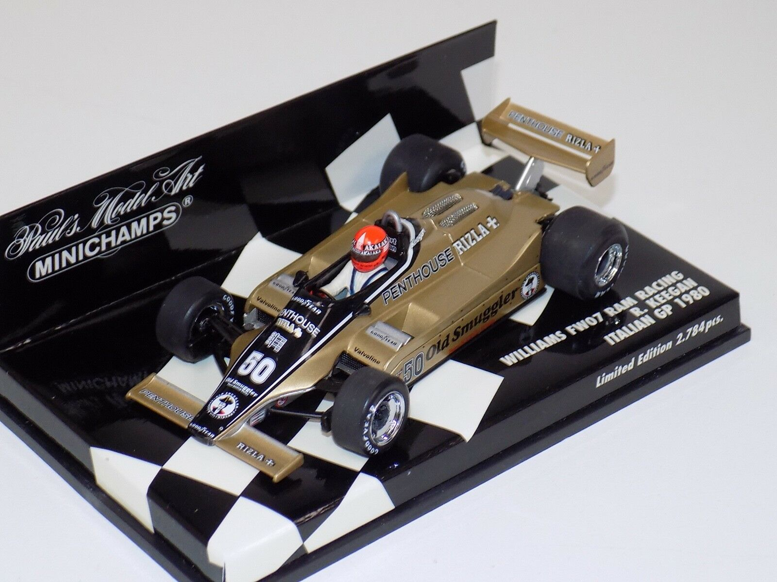 de moda 1 43 Minichamps Minichamps Minichamps F1 Williams Ford FW07 Penthouse 1980 R. Keegan italiano Grand Prix  nuevo sádico