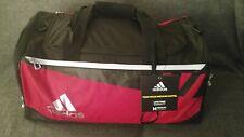 Adidas Team Issue HydroShield Medium Duffle Gym Bag Black Red Size 21x13x12 b7466bf81c28e
