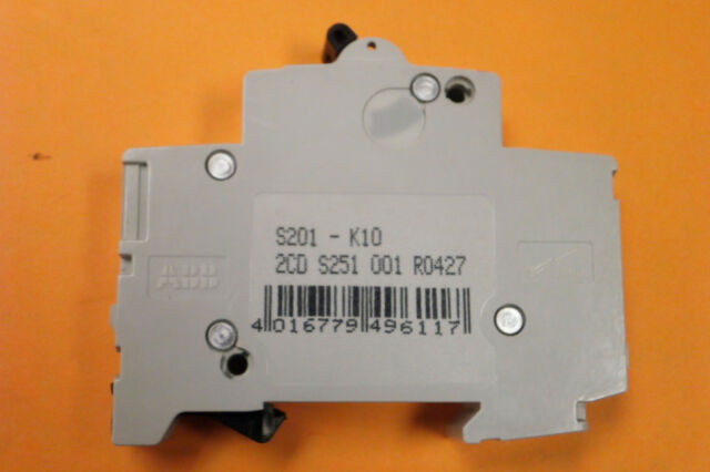 1 Pole S201K10 ABB S201-K10 Breaker 10 Amp