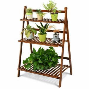 3-Tier-Folding-Shelf-Stand-Bamboo-Flower-Pot-Display-Rack-Bookcase-Organizer