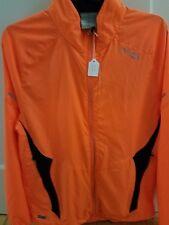 Saucony Mens Medium Neon Orange ViziPro Full Zip Running Track Jacket with USB