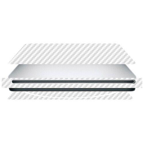 Skinomi Carbon Fiber Silver Skin Protector Cover for Apple MacBook SuperDrive