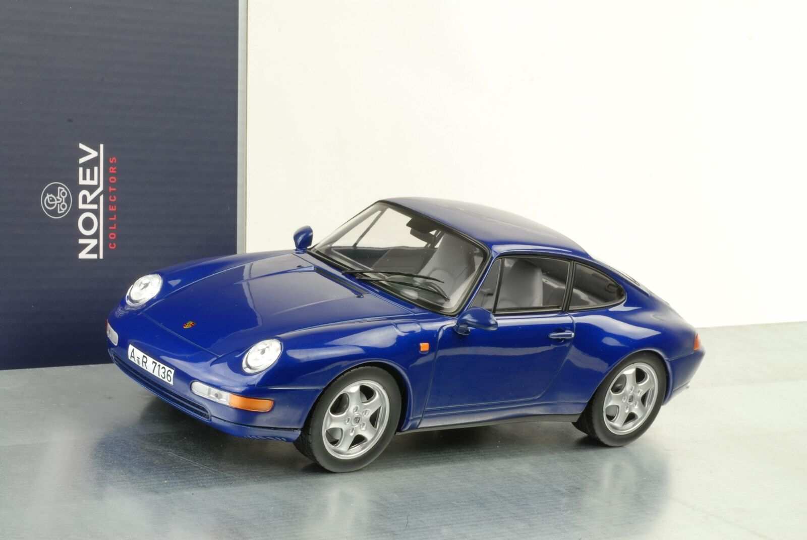 1995 Porsche 911 993 coupé bleu métallisé 1 18 18 18 Norev 187593 f4aa52