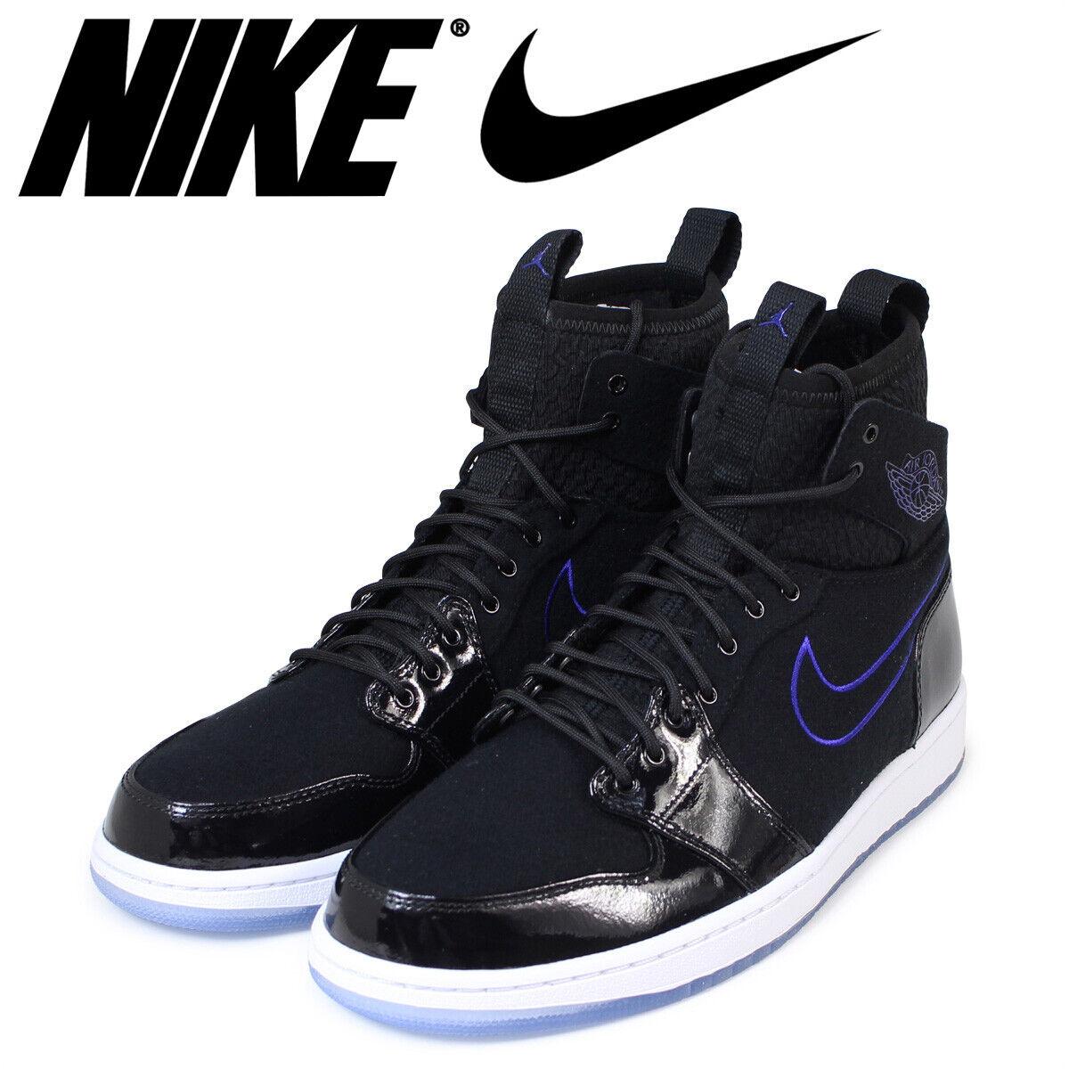 finest selection 37f40 1fe25 SZ 10 10 10 Nike Jordan 1 Retro Ultra High Space Jam Black Concord Sneakers  844700