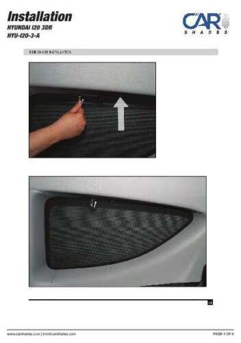 Panneaux arrière Protection solaire pour HYUNDAI i20 3-porte Bj 09-14 vitre arrière