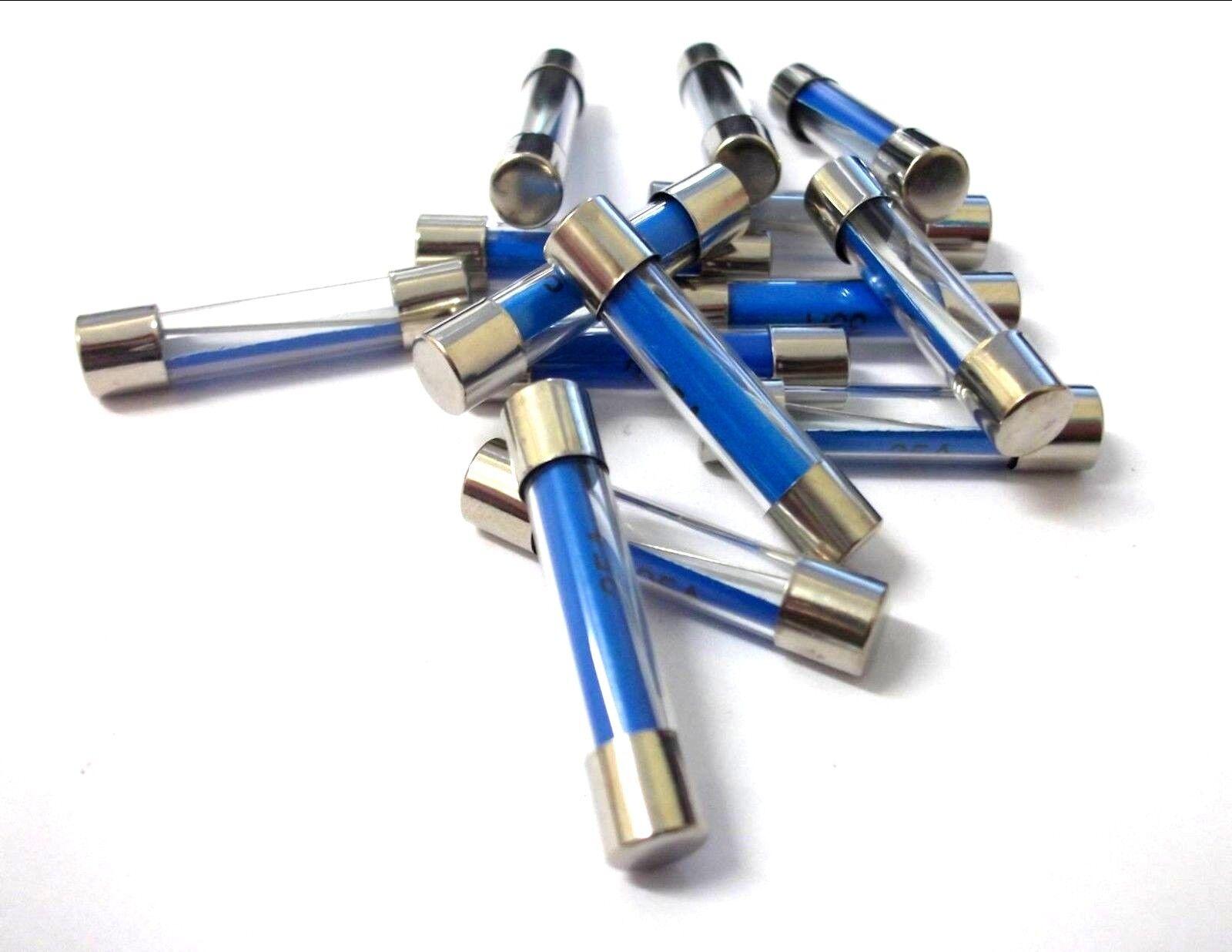 CLASSIC CAR glass fuse 32mm x 6.3mm 20 amp x 5 for LUCAS 4FJ 6FJ 7FJ fuse box