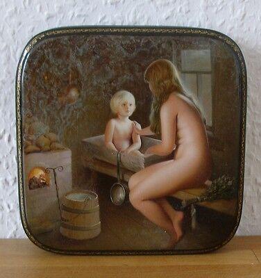 ++lackmalerei, Lackschatulle. In Sauna! Wirklich Einmalig! Anspruchsvoll!++ Kaufe Eins, Bekomme Eins Gratis