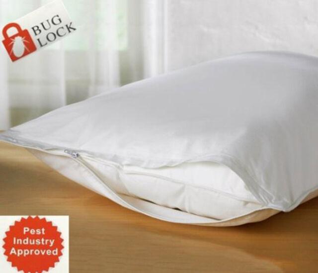 2 Pack Soft Bed Bug Dust Mite Hypoallergenic Waterproof Zipper Pillow Protector!