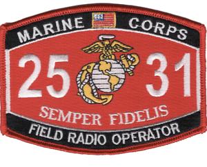 "4.5/"" MARINE CORPS MOS 2531 FIELD RADIO OPERATOR EGA EMBROIDERED PATCH"