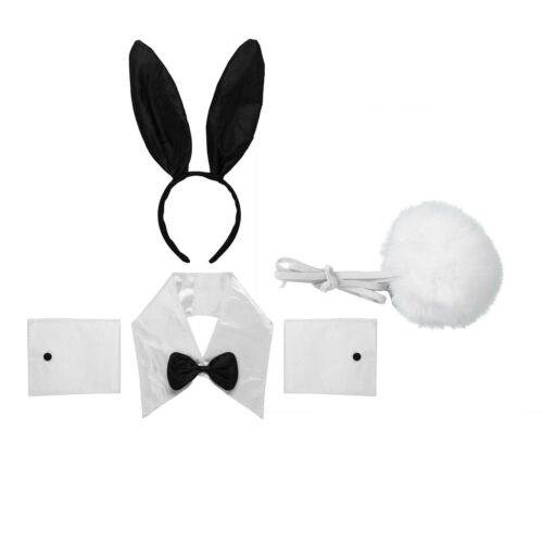 Details about  /Rabbit Ear Headband Collar Bow Tie Costume Cuffs Bunny Tail Christmas Costumes
