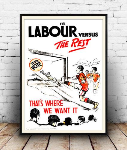 Partido Laborista vs el resto 1924 anuncio Cartel reproducción de información pública.