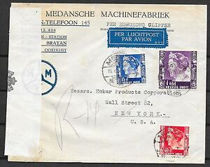 Netherlands Indies covers 1940 cens Airmailcover PER HONGKONG CLIPPER