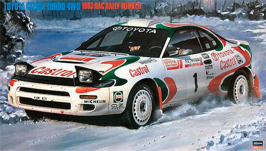 Toyota Celica Turbo 4wd Rac Rally 1993 Plastic Kit 1 24 Model HASEGAWA