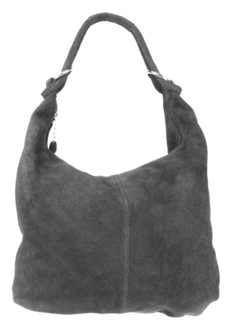 82d0940bdf13 Hobo Italian Genuine Suede Leather Soft Shoulder Bag Oversized ...