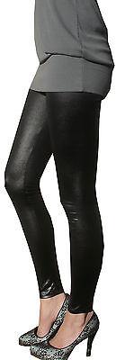 Ankle Full Length Womens Ladies Pants Leggings Wet Look Fetish Black Shiny Pvc