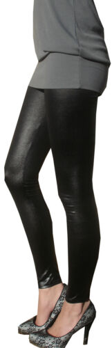 Ankle Full Length Womens Ladies Pants Leggings Wet Look Fetish Black Shiny PVC