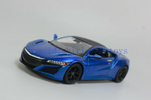 Maisto-1-24-Honda-2018-Acura-NSX-Diecast-MODEL-Racing-Car-NEW-IN-BOX-Blue