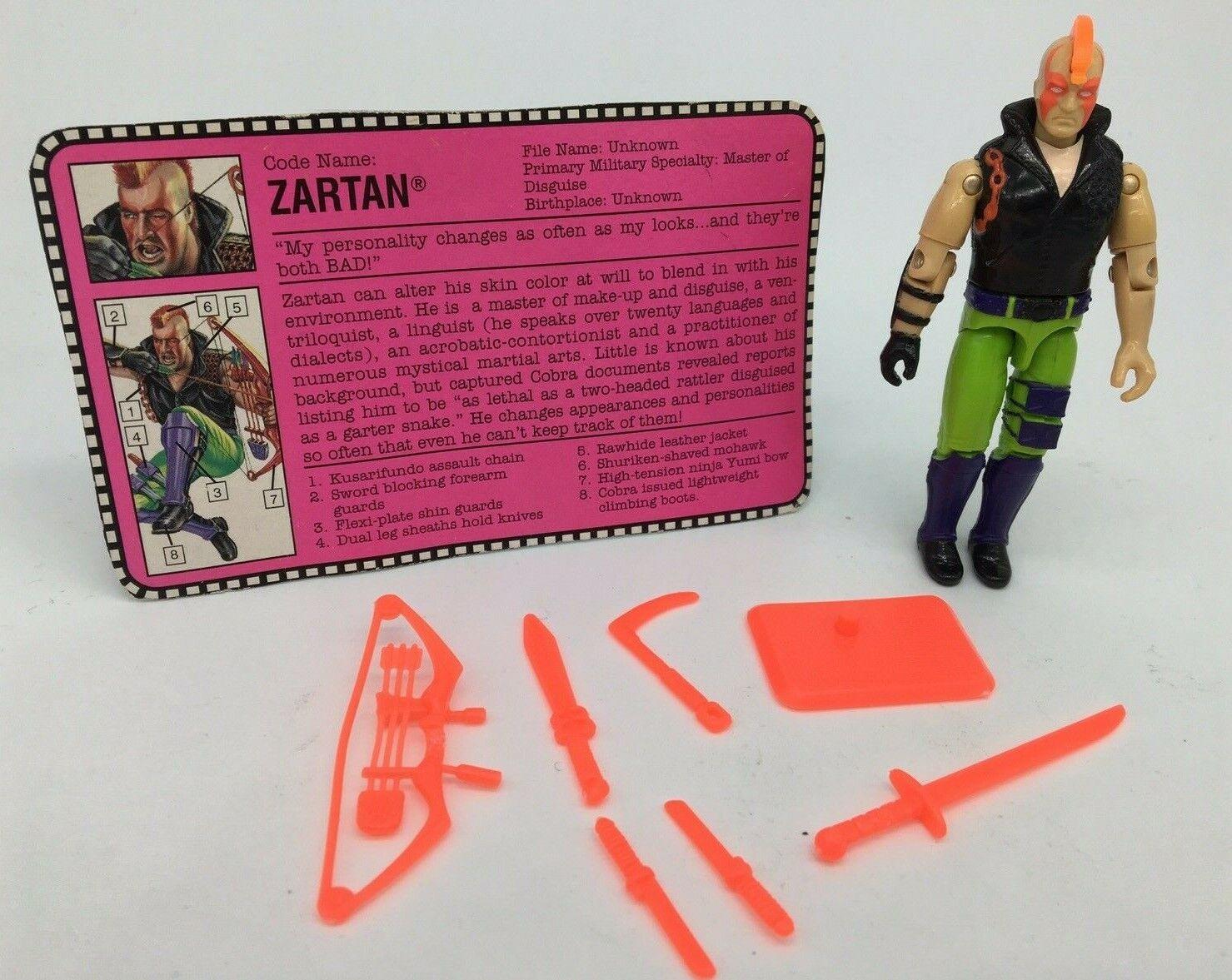 VINTAGE azione forza GI JOE Zartan V2, 1980S, Vintage, Retrò, COMPLETO