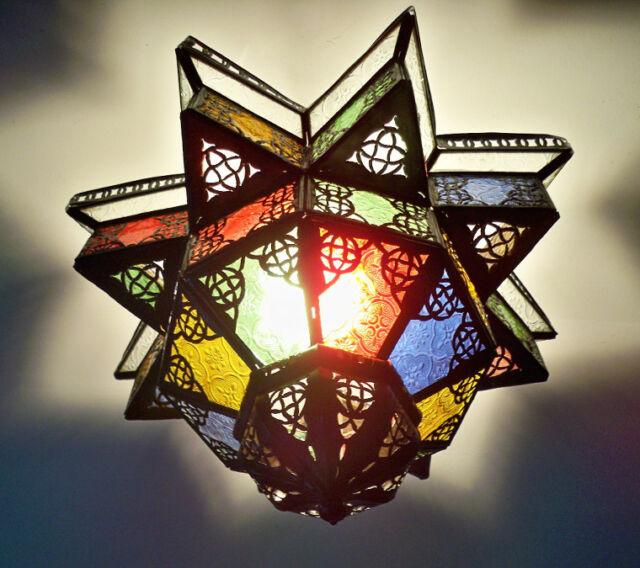 Lustre Marocain fert forgé lampe k2 lanterne plafonnier applique luminaire orien